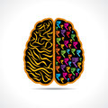 Conceptual idea silhouette image of brain with rupee symbol illustration Stock Image