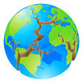 Conceptual illustration world crisis concept globe big cracks opening up round could concept environmental problems similar Stock Images