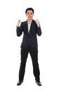 Conceptual image of an asian business man success Stock Photos