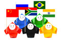 Conceptual image of BRICS Royalty Free Stock Images