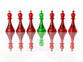 Conceptual image of false leadership. Chess. Royalty Free Stock Photography