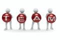 Conceptual image of teamwork Royalty Free Stock Photo