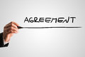 Conceptual image with the word Agreement Royalty Free Stock Photo