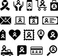 Conceptual looped ribbon icons set of concetual made with a Stock Photography