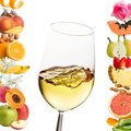 Conceptual multiple white wine aromas. Royalty Free Stock Photo