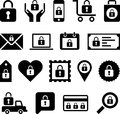 Conceptual padlock icons set of made with padlocks Royalty Free Stock Photos