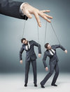 Conceptual photo of controlled employees Royalty Free Stock Photo