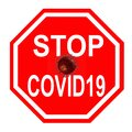 Covid19 2019 Novel Corona Virus, Stop Sign Royalty Free Stock Photo