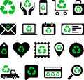 Conceptual recycling icons set of made with a symbol Royalty Free Stock Photography
