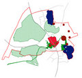 Conceptual scheme, master plan, city map Royalty Free Stock Image