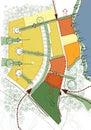Conceptual scheme, master plan, city map Stock Images
