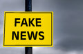 Conceptual Sign about Fake News