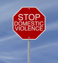 Conceptual stop sign domestic violence abuse Stock Image