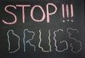 Conceptual stop sign narcotics