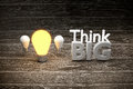 conceptual,think big idea,think different is a leader to success a business education