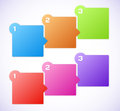 Conceptual vector illustration of colorful cubes with arrows and place for your text usable for different business design Stock Photo