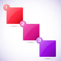 Conceptual vector illustration of colorful cubes with arrows and place for your text usable for different business design Stock Images