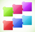 Conceptual vector illustration of colorful cubes with arrows and place for your text usable for different business design Royalty Free Stock Photo