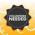 Conceptual vector image of reading volunteer needed