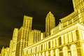 Conceptual view of Chicago (Illinois), Public Library and skyline Royalty Free Stock Photo