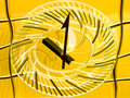 Conceptual view of a railway station clock – time goes by quickly angers france Royalty Free Stock Image