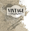Conceptual vintage banner Royalty Free Stock Photo