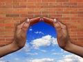 Conceptual window Royalty Free Stock Photos