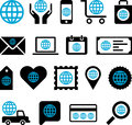 Conceptual world icons this is a collection of made with worlds Stock Image