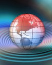 Conceptualization of globe d rendered north america Royalty Free Stock Photography
