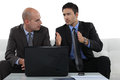 Concerned business associates Royalty Free Stock Photo