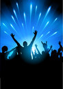 Concert audience vector a crowd of people at a gig illustration Royalty Free Stock Photography