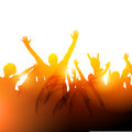 Concert audience vector a crowd of people at a gig illustration Royalty Free Stock Image