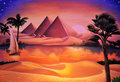 Concert backdrop painted of ancient egypt and nile river Stock Images
