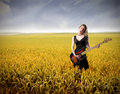 Concert in cornfield Stock Photos
