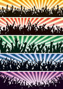 Concert crowds Royalty Free Stock Photos
