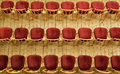 Concert hall empty rows of chairs in the Royalty Free Stock Image