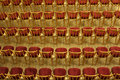 Concert hall empty rows of chairs in the Royalty Free Stock Photo