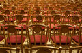 Concert hall empty rows of chairs in the Stock Images