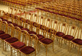 Concert hall empty rows of chairs in the Royalty Free Stock Photography