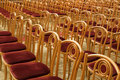 Concert hall empty rows of chairs in the Stock Photos
