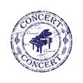 Concert rubber stamp Stock Photo