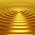 Concetric Golden Ripples Royalty Free Stock Photography