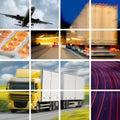 Concetto di trasporto Fotografia Stock Libera da Diritti