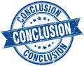 Conclusion stamp Royalty Free Stock Photo