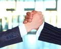 The conclusion of the transaction businesspeople hand shake Royalty Free Stock Photos