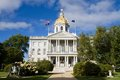 Concord new hampshire state house the capital building of is located in the city of nh usa with surrounding grounds Royalty Free Stock Photos