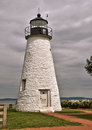Concord point lighthouse at havre de grace maryland overlooking the chesapeake bay built in this is the second oldest Royalty Free Stock Photos