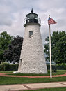 Concord point lighthouse at havre de grace maryland overlooking the chesapeake bay built in this is the second oldest Stock Images