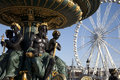 Concorde Square and Ferris Wheel in Paris Stock Photography