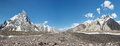 Concordia panorama karakorum range pakistan in the in Royalty Free Stock Images